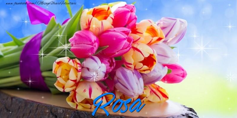 Felicitari de prietenie - Rosa