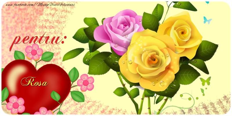 Felicitari de prietenie - pentru: Rosa