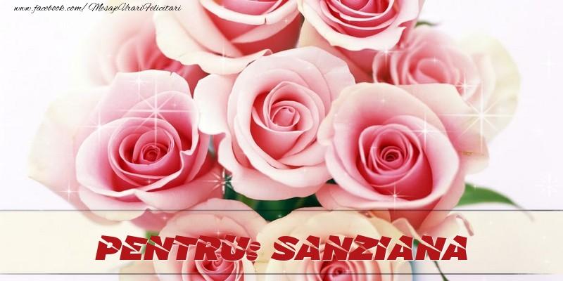 Felicitari de prietenie - Pentru Sanziana