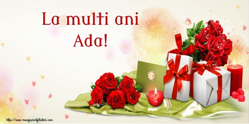 Felicitari de zi de nastere - La multi ani Ada!