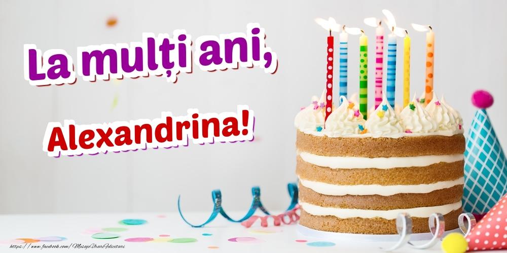Felicitari de zi de nastere - La mulți ani, Alexandrina