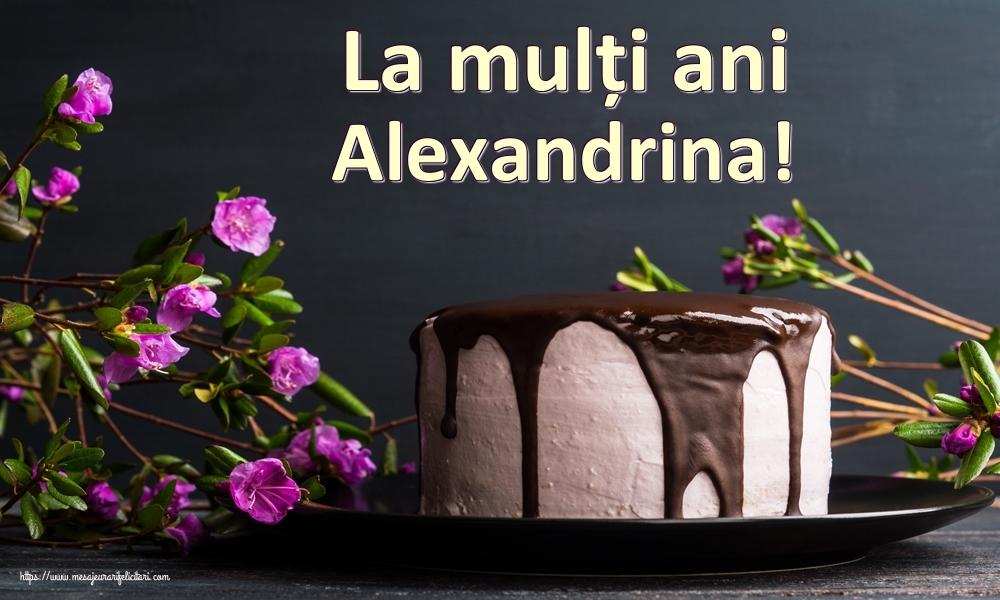 Felicitari de zi de nastere - La mulți ani Alexandrina!