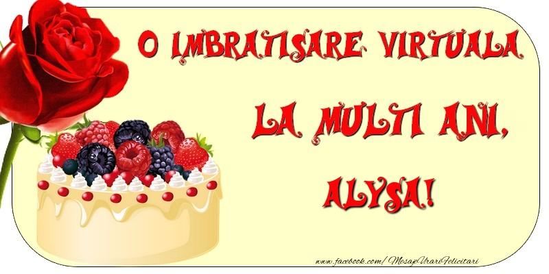Felicitari de zi de nastere - O imbratisare virtuala si la multi ani, Alysa
