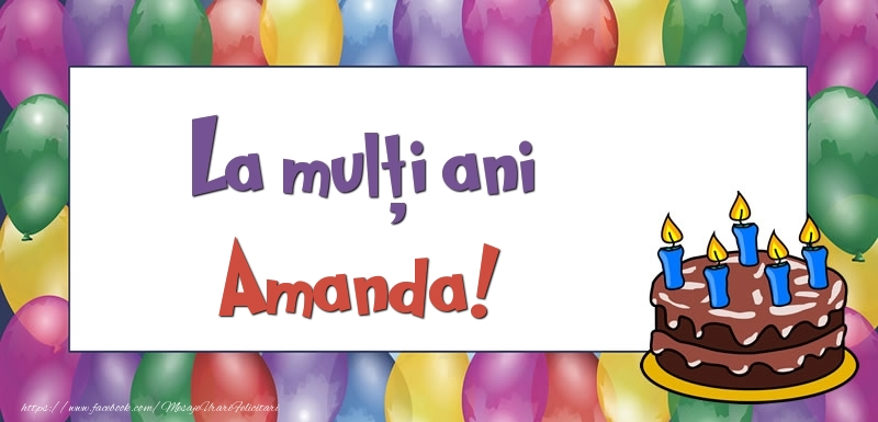 Felicitari de zi de nastere - La mulți ani, Amanda!
