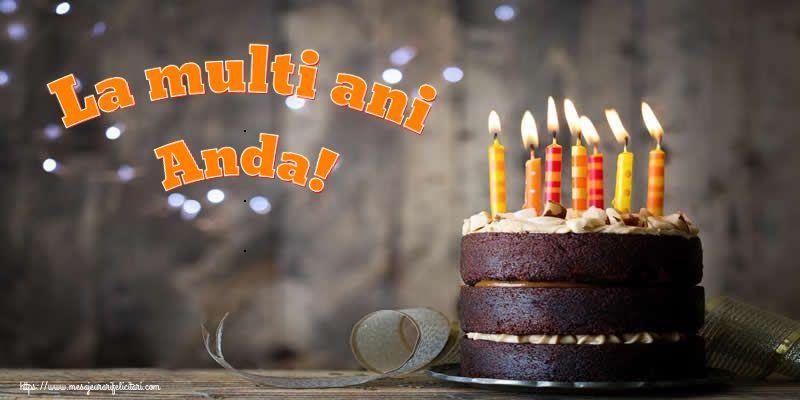 Felicitari de zi de nastere - La multi ani Anda!