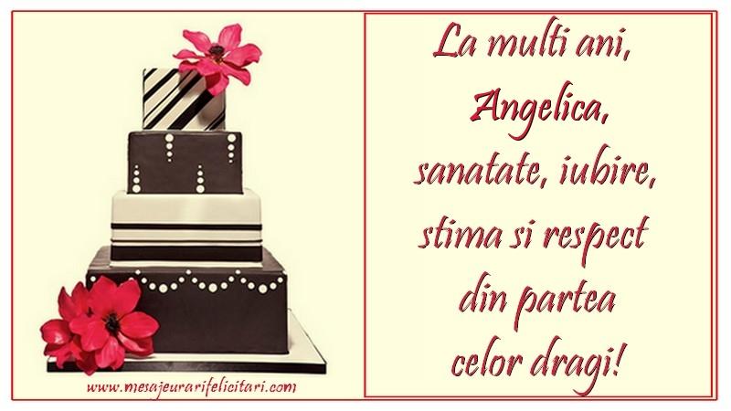 Felicitari de zi de nastere - La multi ani, Angelica
