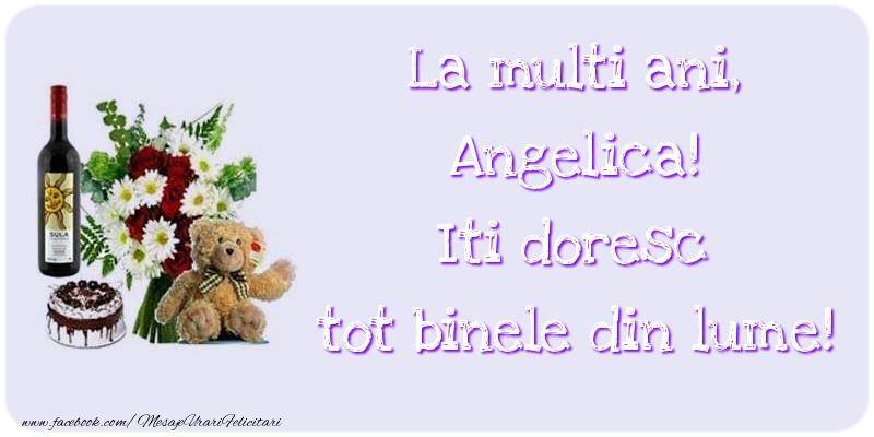 Felicitari de zi de nastere - La multi ani, Iti doresc tot binele din lume! Angelica
