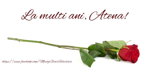 Felicitari de zi de nastere - La multi ani, Atena!