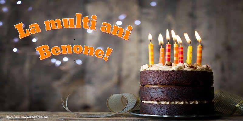 Felicitari de zi de nastere - La multi ani Benone!