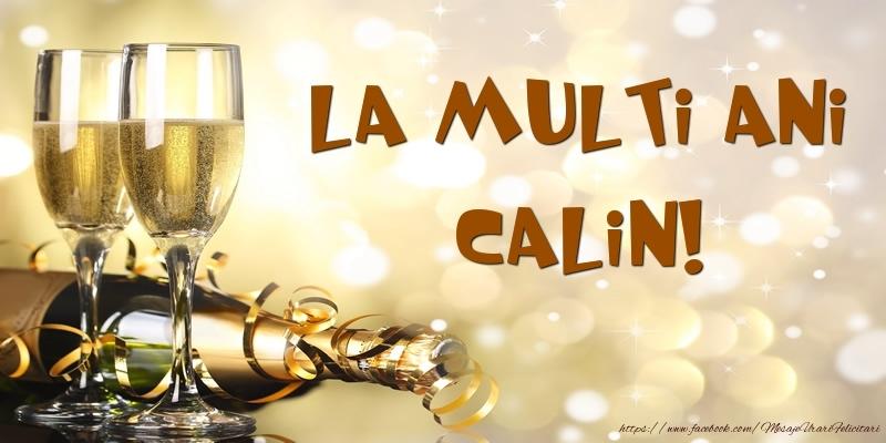 Felicitari de zi de nastere - Sampanie - La multi ani, Calin!