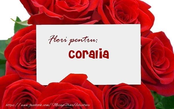 Felicitari de zi de nastere - Flori pentru: Coralia
