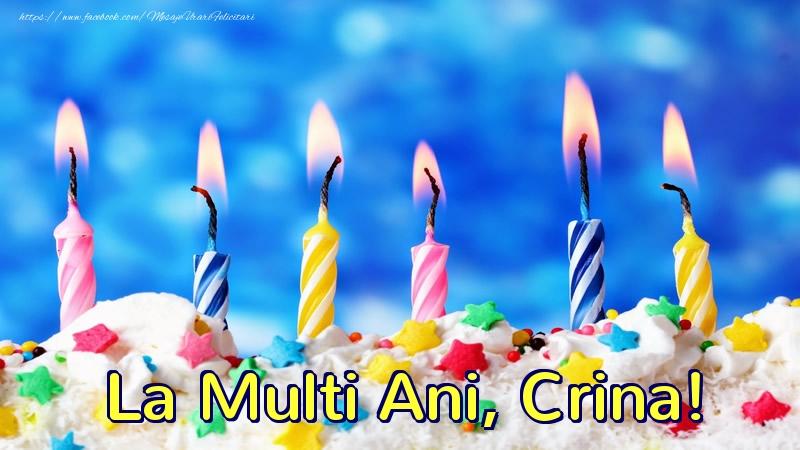 Felicitari de zi de nastere - La multi ani, Crina!