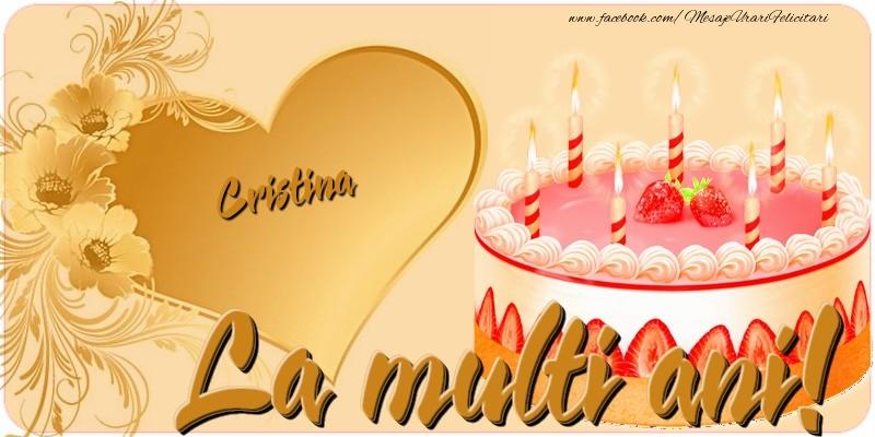 Felicitari de zi de nastere - La multi ani, Cristina