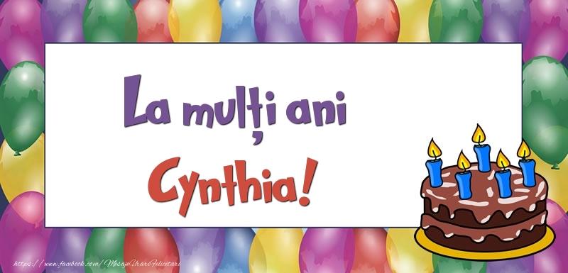 Felicitari de zi de nastere - La mulți ani, Cynthia!