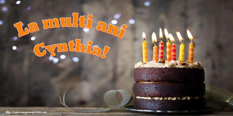 Felicitari de zi de nastere - La multi ani Cynthia!