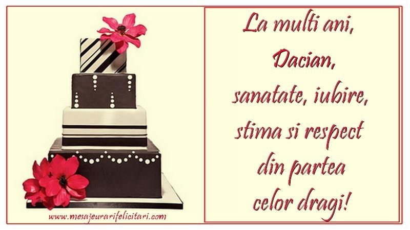Felicitari de zi de nastere - La multi ani, Dacian