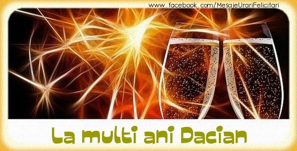 Felicitari de zi de nastere - La multi ani Dacian