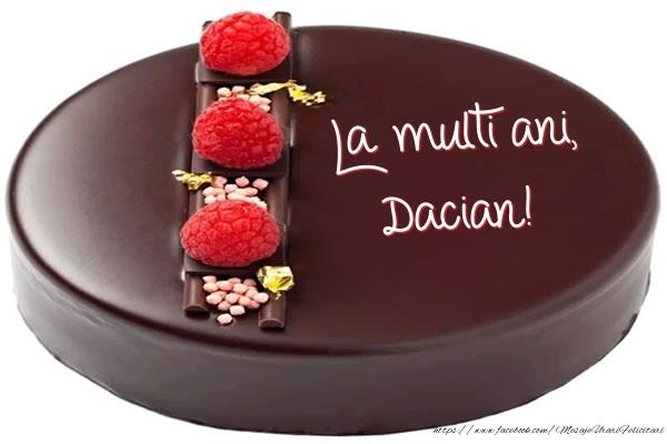Felicitari de zi de nastere - La multi ani, Dacian! - Tort