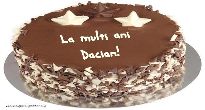 Felicitari de zi de nastere - Tort La multi ani Dacian!