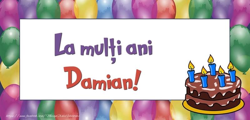Felicitari de zi de nastere - La mulți ani, Damian!