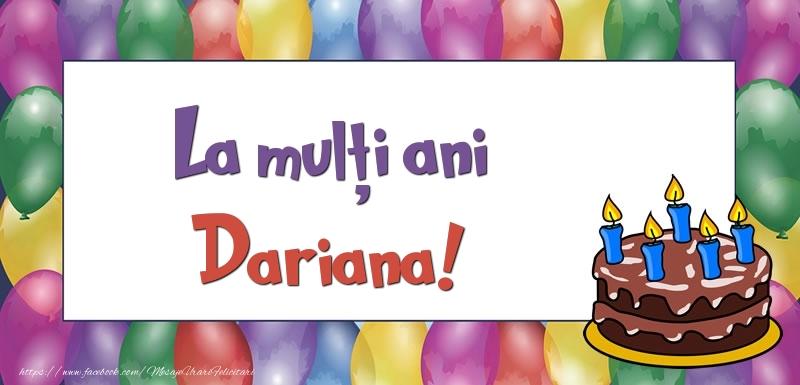 Felicitari de zi de nastere - La mulți ani, Dariana!
