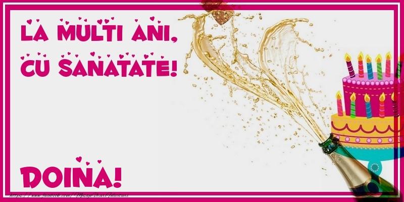 Felicitari de zi de nastere - La multi ani, cu sanatate! Doina