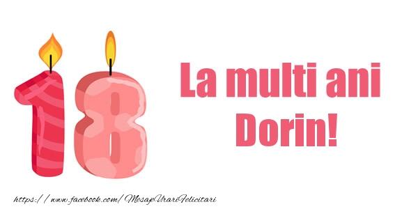 Felicitari de zi de nastere - La multi ani Dorin! 18 ani