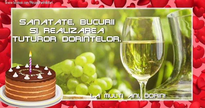 Felicitari de zi de nastere - La multi ani, Dorin!
