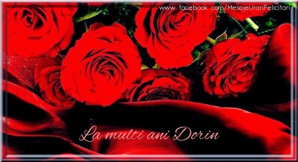 Felicitari de zi de nastere - La multi ani Dorin