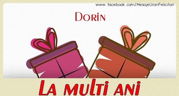 Felicitari de zi de nastere - Dorin La multi ani