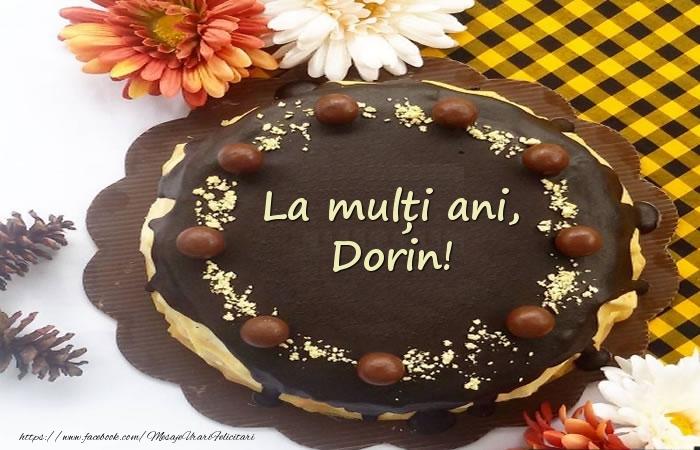 Felicitari de zi de nastere - La mulți ani, Dorin! Tort
