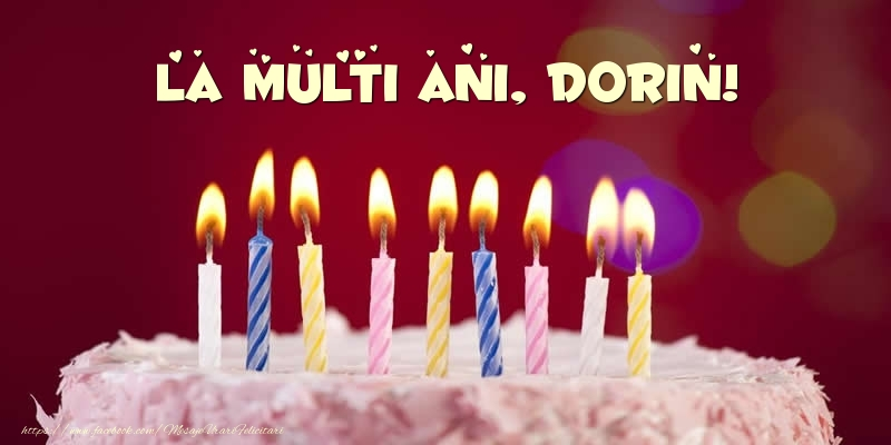 Felicitari de zi de nastere - Tort - La multi ani, Dorin!