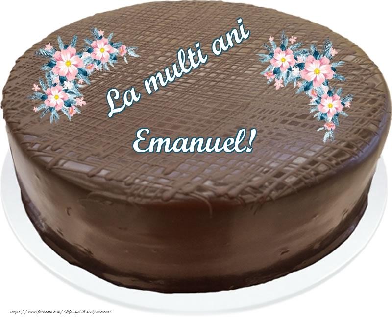 Felicitari de zi de nastere - La multi ani Emanuel! - Tort de ciocolata