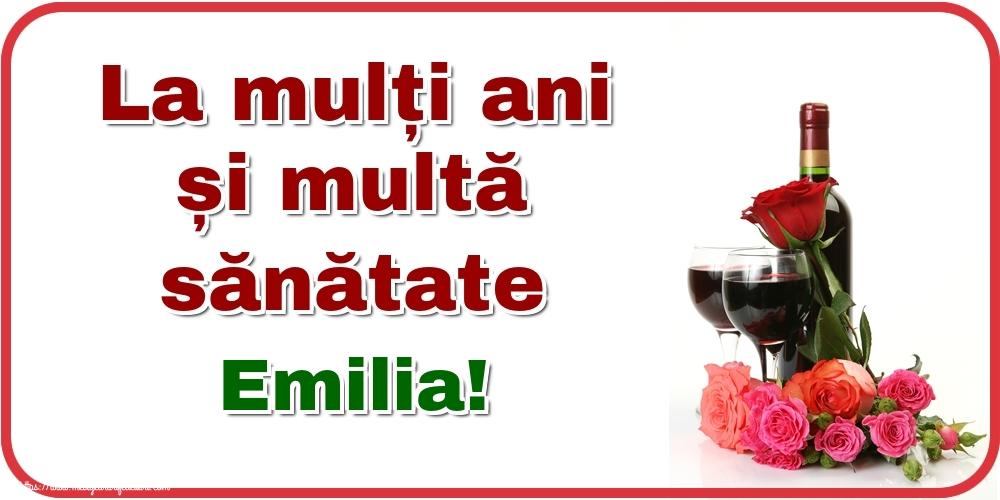 Felicitari de zi de nastere - La mulți ani și multă sănătate Emilia!