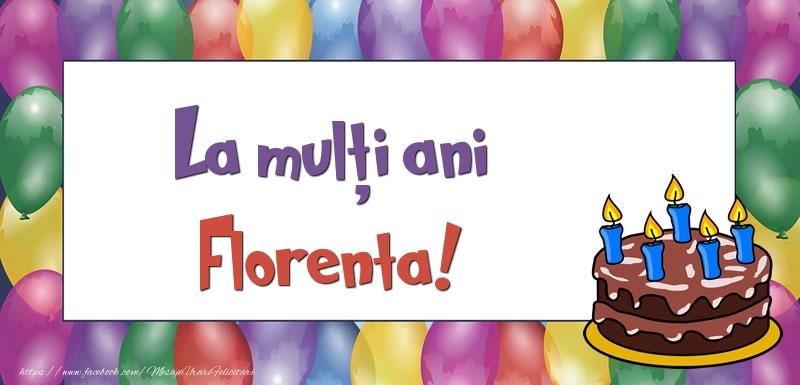 Felicitari de zi de nastere - La mulți ani, Florenta!