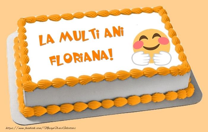Felicitari de zi de nastere - Tort La multi ani Floriana!
