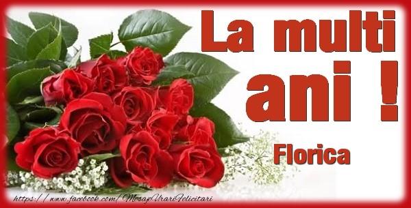 Felicitari de zi de nastere - La multi ani Florica