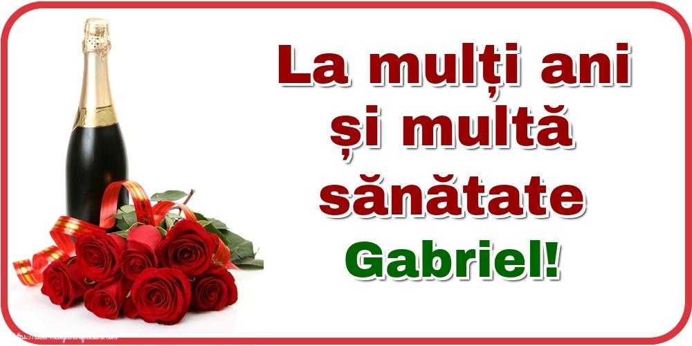 Felicitari de zi de nastere - La mulți ani și multă sănătate Gabriel!