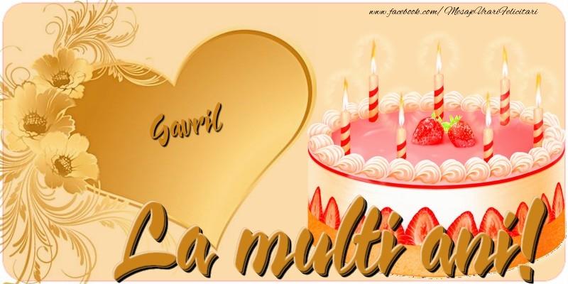 Felicitari de zi de nastere - La multi ani, Gavril