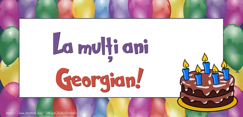 Felicitari de zi de nastere - La mulți ani, Georgian!