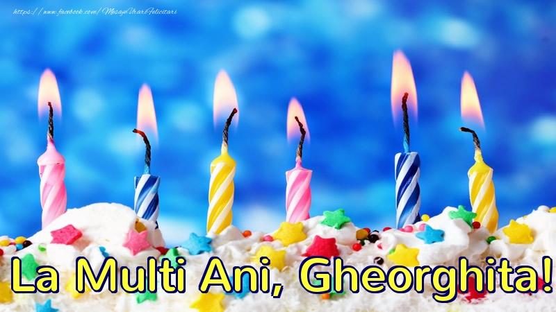 Felicitari de zi de nastere - La multi ani, Gheorghita!