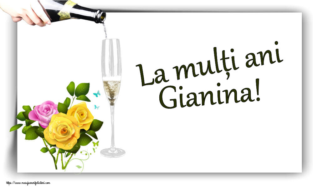 Felicitari de zi de nastere - La mulți ani Gianina!