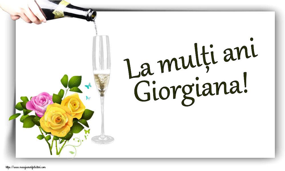 Felicitari de zi de nastere - La mulți ani Giorgiana!
