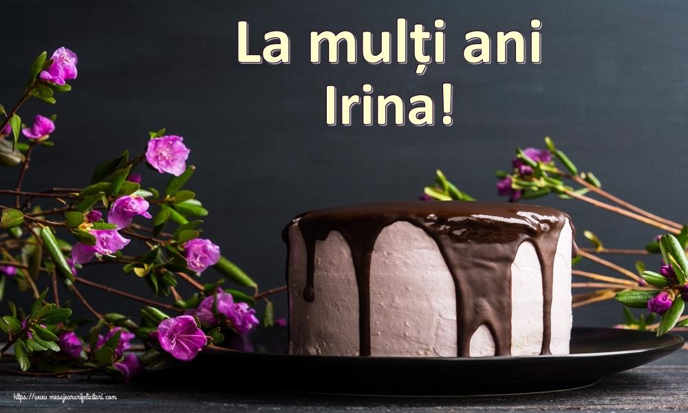 Felicitari de zi de nastere - La mulți ani Irina!