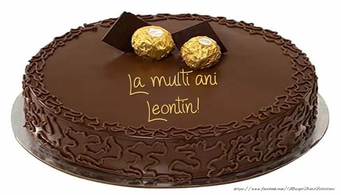 Felicitari de zi de nastere - Tort - La multi ani Leontin!
