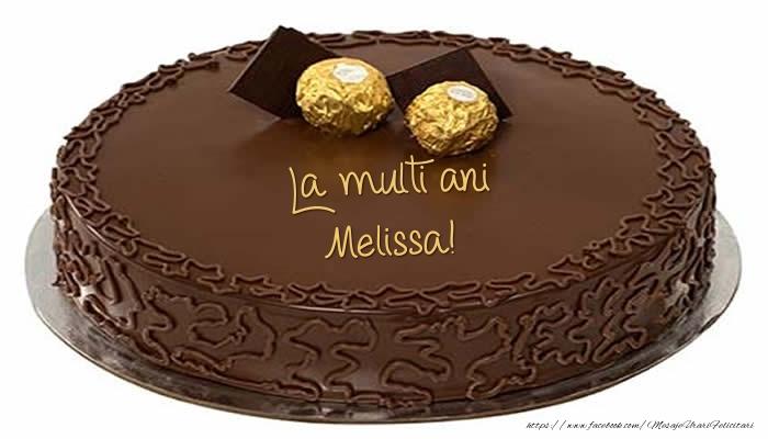 Felicitari de zi de nastere - Tort - La multi ani Melissa!