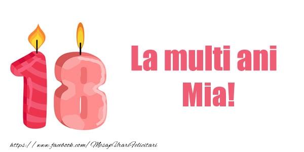 Felicitari de zi de nastere - La multi ani Mia! 18 ani