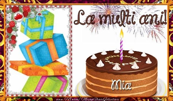 Felicitari de zi de nastere - La multi ani, Mia!