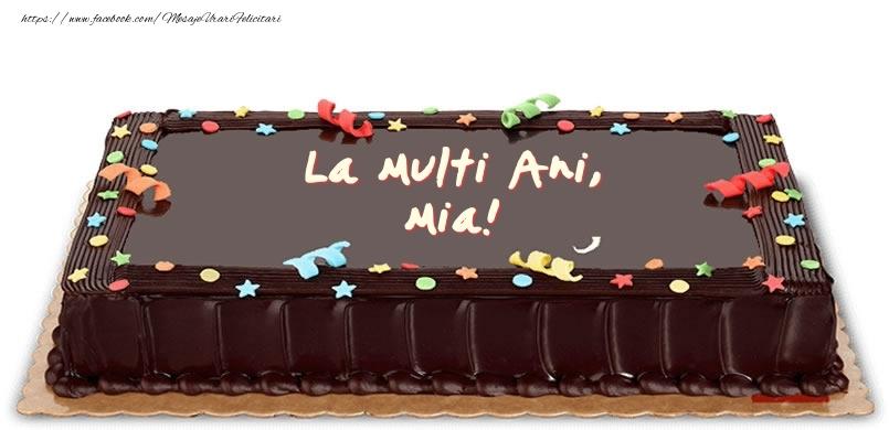 Felicitari de zi de nastere - Tort de zi de nastere pentru Mia!