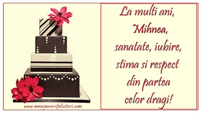 Felicitari de zi de nastere - La multi ani, Mihnea
